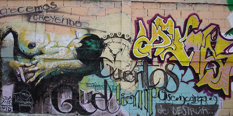 El ni o de las pinturas urban art for Graffitis para ninos